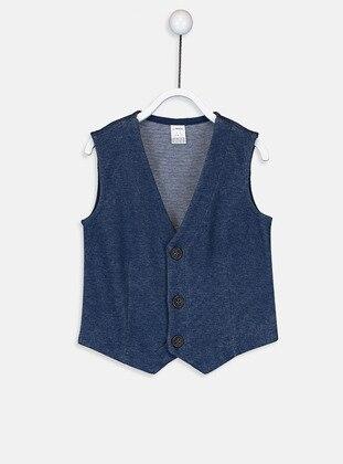 Navy Blue - Baby Vest