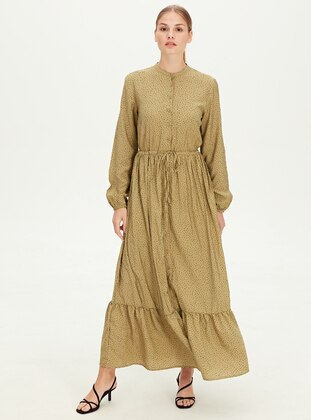 Printed - Green - Dress