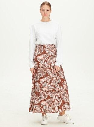 Printed - Brown - Skirt