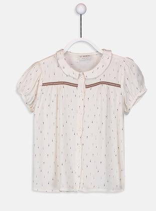 Beige - Girls` Shirt