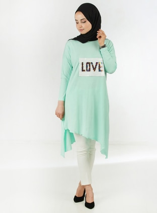 Mint - Crew neck - Viscose - Tunic
