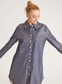 Anthracite - Point Collar -  - Blouses