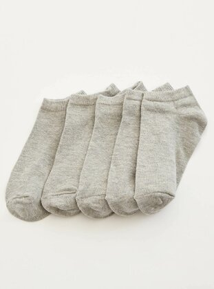 Gray - Socks - DeFacto