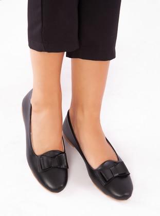 Black - Flat - Flat Shoes - Ayakkabı Havuzu