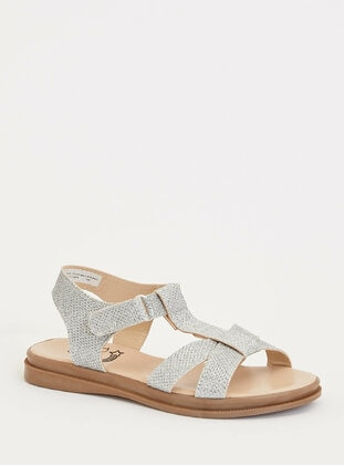 Gray - Girls` Sandals