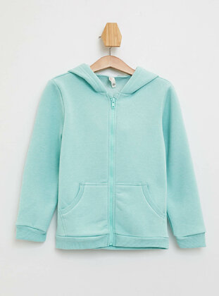 Turquoise - Girls` Cardigan