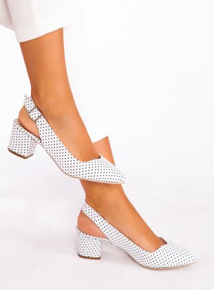 White - Black - High Heel - Heels