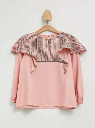 Pink - Girls` Blouse - DeFacto
