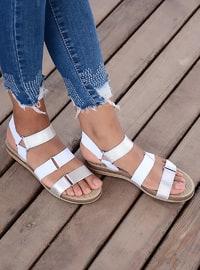 White - Silver tone - Sandal - Sandal