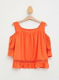 Orange - Girls` Blouse