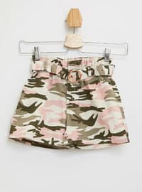 Khaki - Girls` Shorts