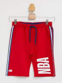 Red - Boys` Shorts