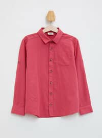 Maroon - Boys` Shirt