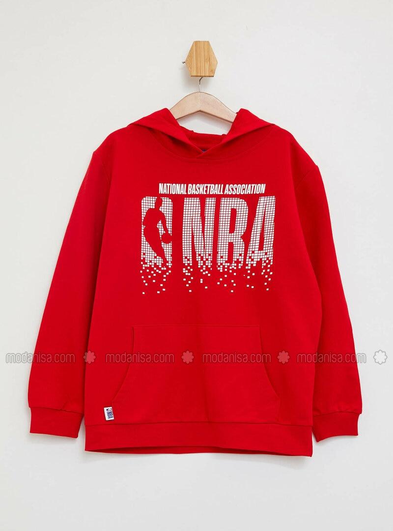 Red - Boys` Sweatshirt