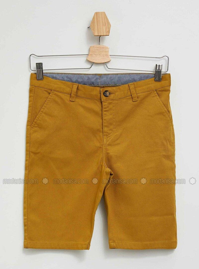 Beige - Boys` Shorts
