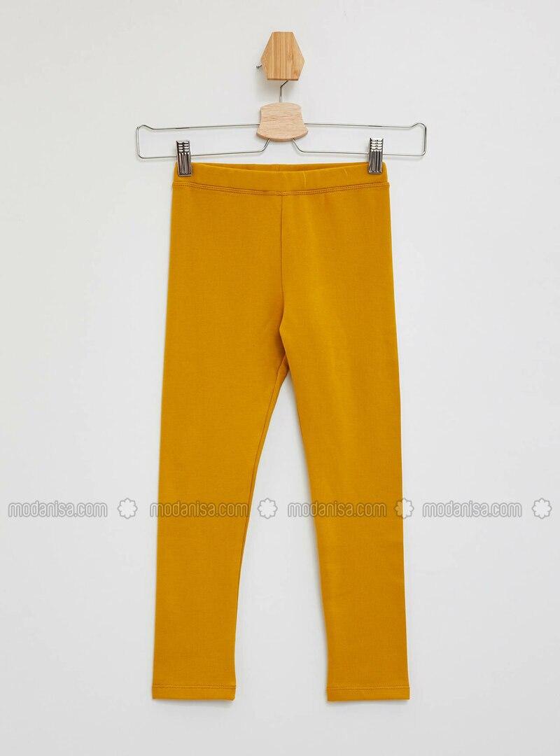 Orange - Girls` Leggings