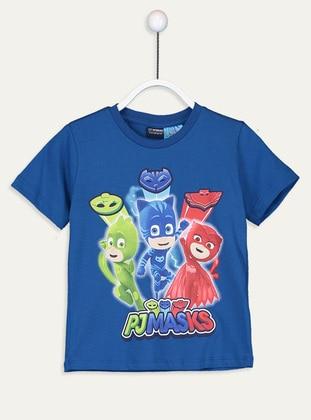 Crew neck - Blue - Boys` T-Shirt - LC WAIKIKI