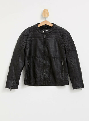 Black - Boys` Jacket - DeFacto