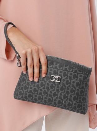 Gray - Clutch Bags / Handbags - Pierre Cardin Çanta