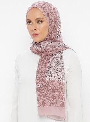 Rose - Floral - Printed - Shawl
