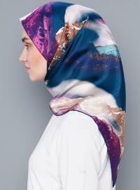 Printed - %100 Silk - Satin - Scarf