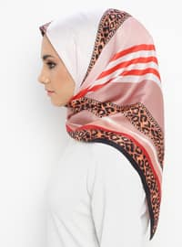 Dusty Rose - Black - Printed - Leopard - Scarf