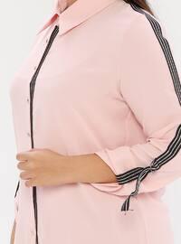 Powder - Point Collar - Plus Size Blouse