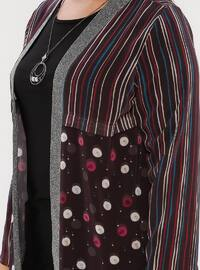 Black - Multi - Crew neck - Shawl Collar - Unlined - Plus Size Suit
