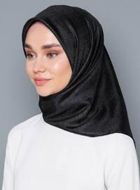 Multi - Black - Printed - %100 Silk - Scarf