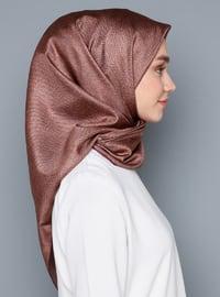 Copper - Cinnamon - Printed - %100 Silk - Scarf