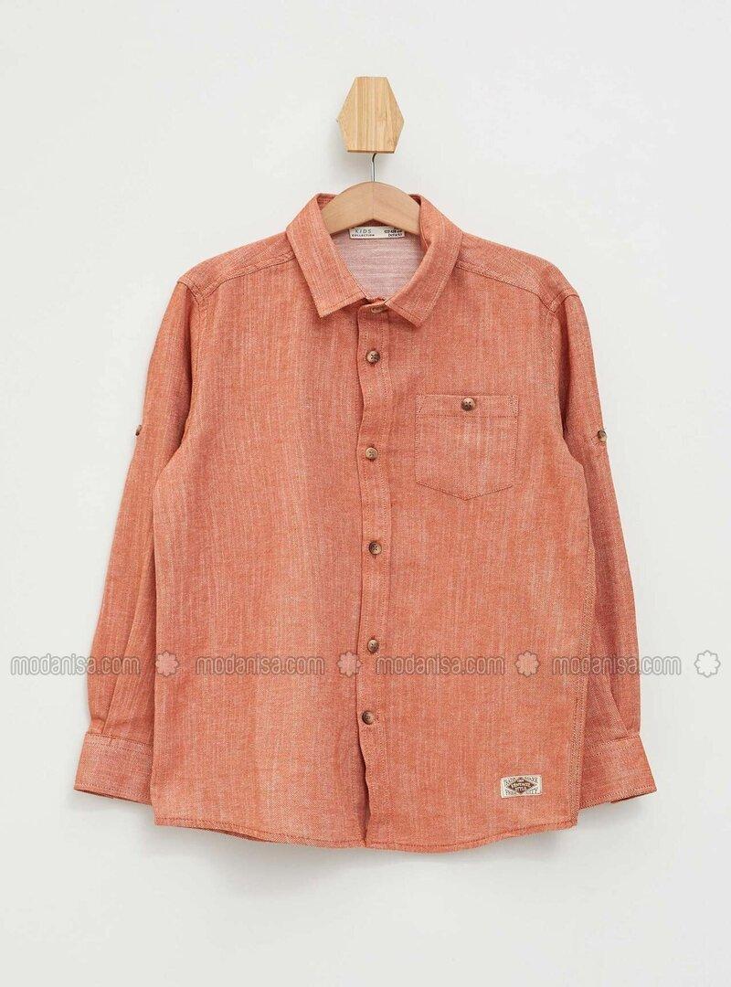 Orange - Boys` Shirt