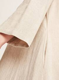 Ecru - Point Collar - Linen - Blouses