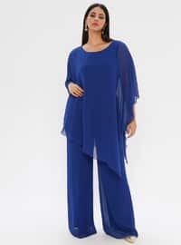 Saxe - Fully Lined - Crew neck - Plus Size Dress