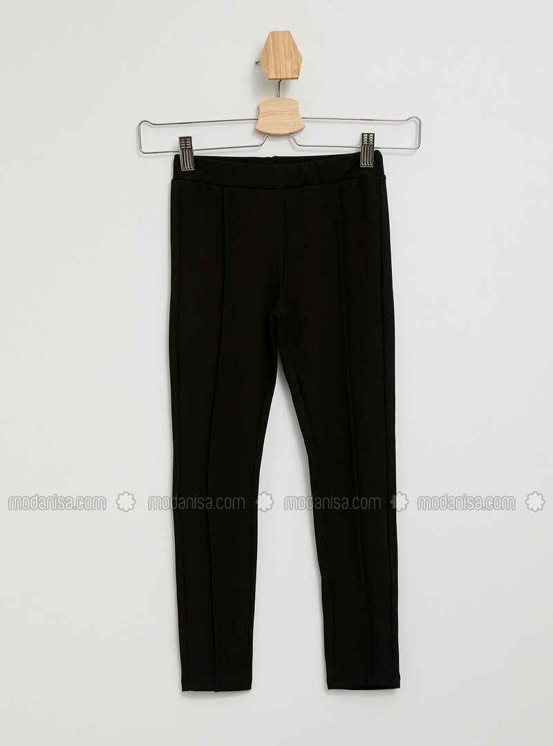 Black - Girls` Leggings