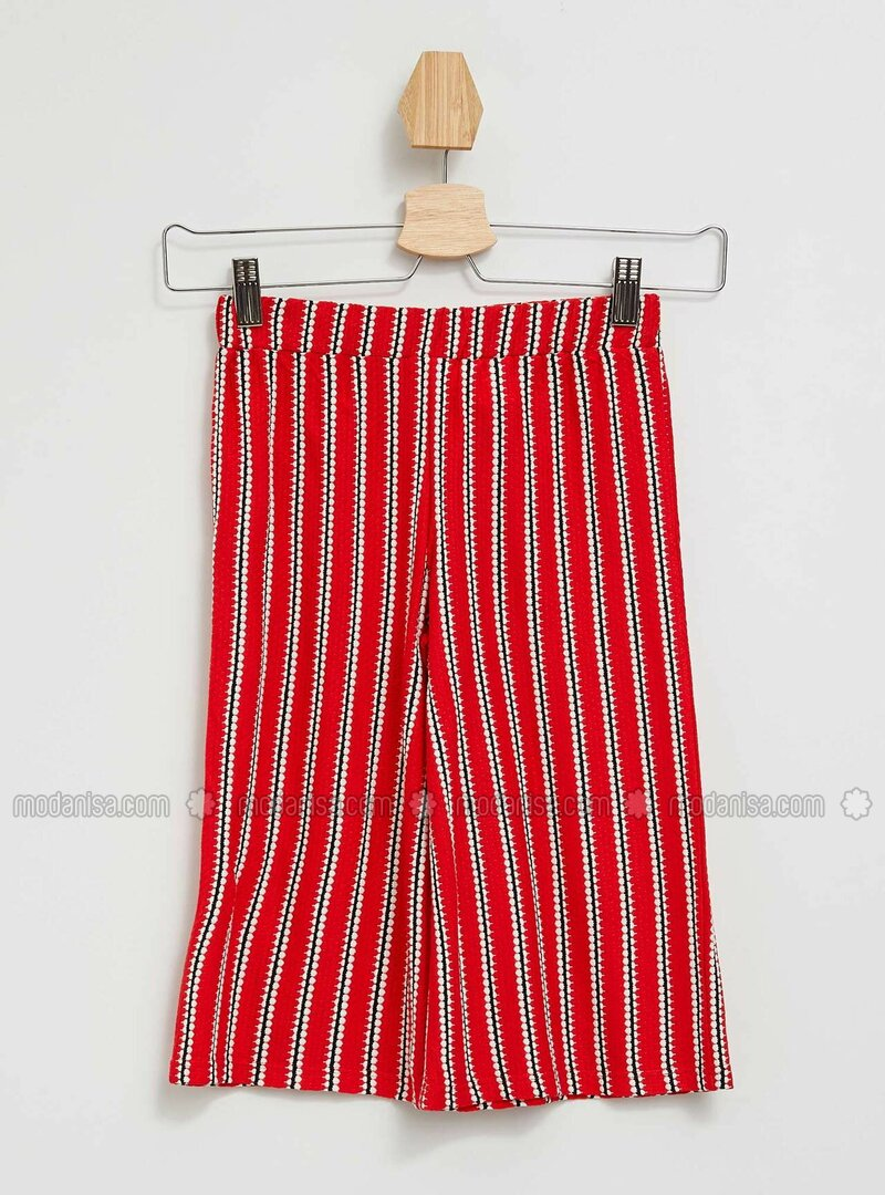 Red - Girls` Pants