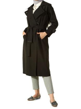 Black - Black - Trench Coat