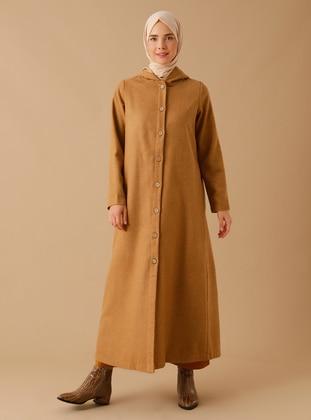Tan - Unlined - Acrylic -  - Coat