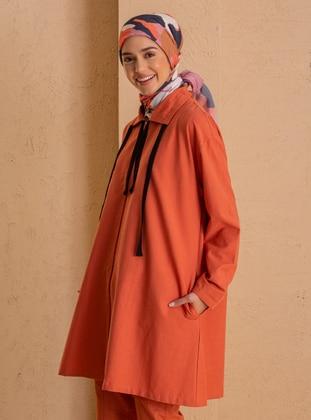 Cinnamon - Unlined - Point Collar - - Topcoat