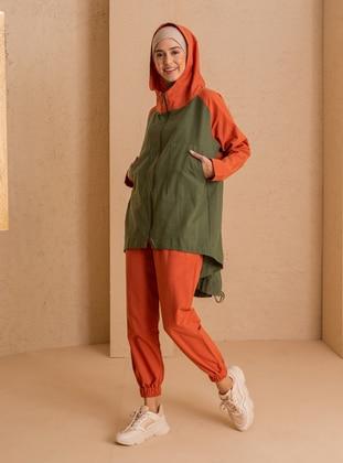 Khaki - Cinnamon - Unlined - - Jacket