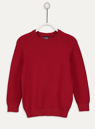 Crew neck - Red - Boys` Pullover