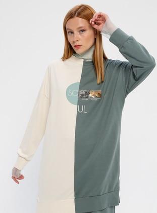 Crew neck - Green Almond - Sweat-shirt