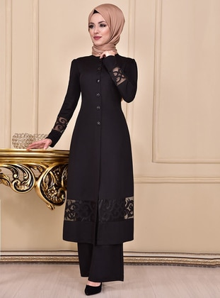 Black - Unlined - Suit - AYŞE MELEK TASARIM