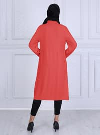 Coral - Unlined - Crew neck -  - Topcoat