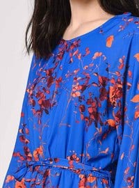Saxe - Multi - Crew neck - Fully Lined - Dress