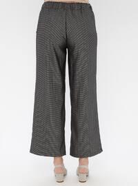 Black - Multi - Viscose - Pants