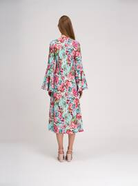 Mint - Multi - Crew neck - Unlined -  - Dress