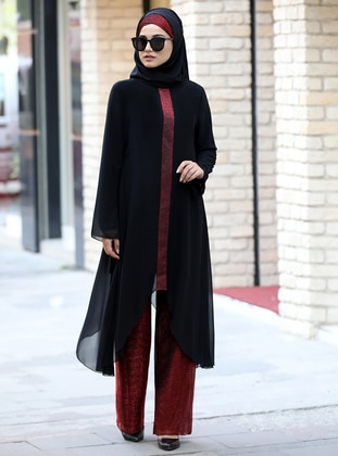 Maroon - Fully Lined - Suit - Piennar