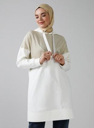 White - Gold - Ecru -  - Tunic