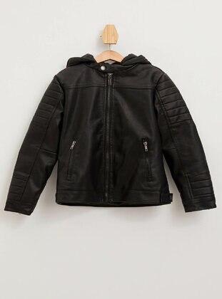 Black - Boys` Jacket - DeFacto