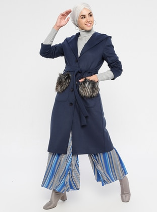 Indigo - Fully Lined - Viscose - Coat